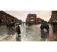 Childe Hassam - Rainy Day, Boston American Impressionism Landscape Rain Photographic Print