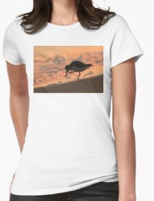 Sandpiper Silhouette Womens Fitted T-Shirt