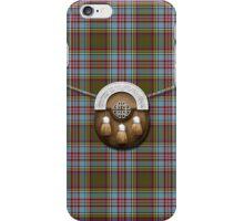 Clan Anderson Tartan And Sporran iPhone Case/Skin