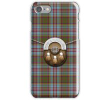 Clan Anderson Tartan And Sporran iPhone Case/Skin