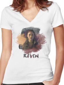 Raven - The 100 -  Brush Women's Fitted V-Neck T-Shirt
