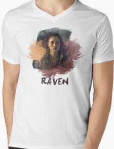 Raven - The 100 -  Brush Mens V-Neck T-Shirt