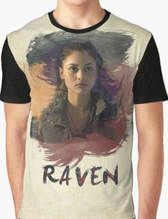 Raven - The 100 -  Brush Graphic T-Shirt