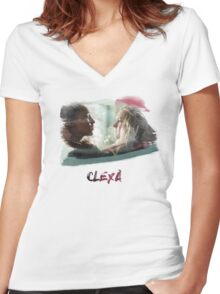 Clexa - The 100 - brush Women's Fitted V-Neck T-Shirt