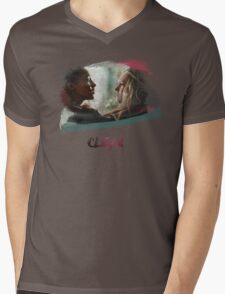Clexa - The 100 - brush Mens V-Neck T-Shirt