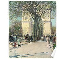 Childe Hassam - Washington Arch, Spring 1893 Poster