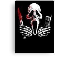 Skulls, Bones, Knives and Phones Canvas Print