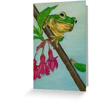 a peaceful frog Greeting Card