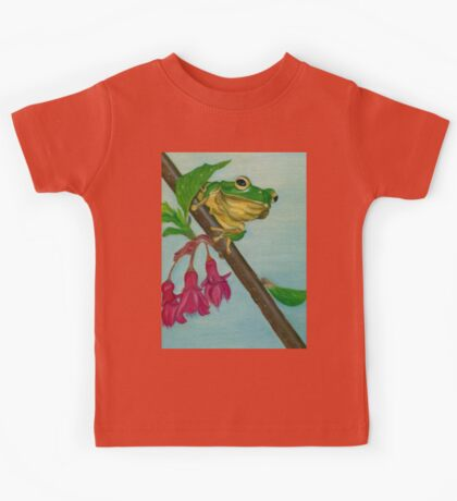 a peaceful frog Kids Tee