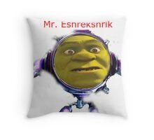 Mr. Eshrekshrik Throw Pillow