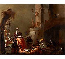 Cornelis Saftleven - College of Animals 1655 Fashion  College Smart  Smile  Dutch  Netherlands  Colorful Photographic Print