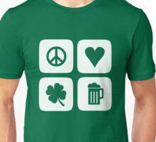 Peace Love Shamrock Beer Unisex T-Shirt