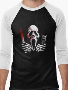 Skulls, Bones, Knives and Phones Men's Baseball ¾ T-Shirt
