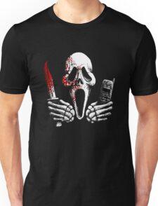 Skulls, Bones, Knives and Phones Unisex T-Shirt
