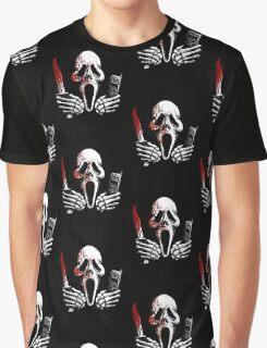 Skulls, Bones, Knives and Phones Graphic T-Shirt