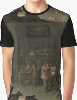 Cornelis Saftleven - Who sues for a cow 1629 Graphic T-Shirt