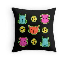 NUCLEAR CATS Throw Pillow