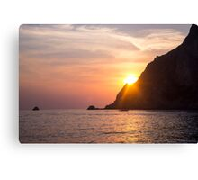 Idyllic Sundown - Nature Photography Canvas Print