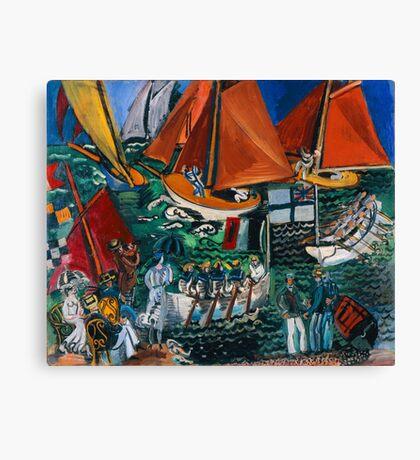 Dufy Raoul - Fte Nautique The Regatta 1920-1922 , Seascape  Canvas Print