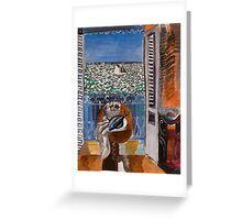 Dufy Raoul - View Through A Window, Nice  1925 , Impressionism , Seascape  Greeting Card