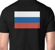 RUSSIAN FLAG, Russian National Flag, USSR, Russia, Pure & Simple, on BLACK Unisex T-Shirt