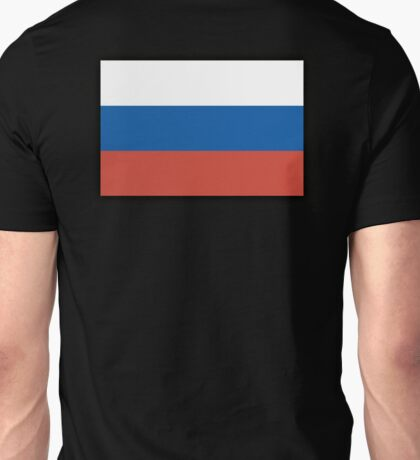 Russia, RUSSIAN FLAG, Russian National Flag, USSR, Pure & Simple, on BLACK Unisex T-Shirt