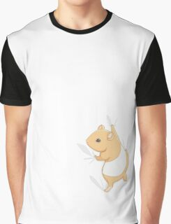Climbing Hamster Graphic T-Shirt