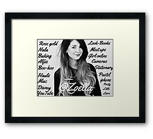 All things Zoella - LARGE  Framed Print