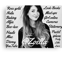 All things Zoella - LARGE  Canvas Print