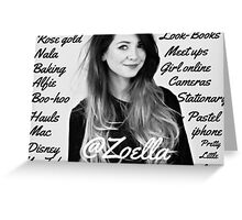 All things Zoella - LARGE  Greeting Card