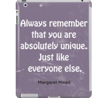 Funny quote  iPad Case/Skin