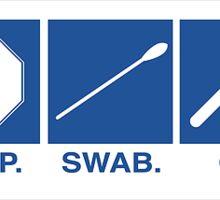 Stop, Swab, Go Sticker