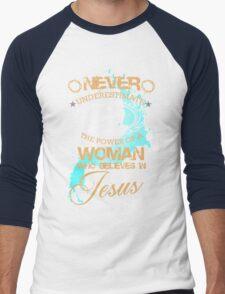 jesus love Men's Baseball ¾ T-Shirt