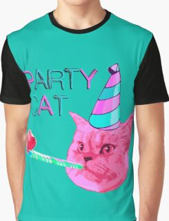 Party Cat Graphic T-Shirt