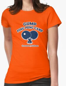 Gump Ping Pong Camp Womens Fitted T-Shirt
