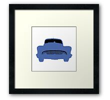 Old Buick Graphic Blue Framed Print