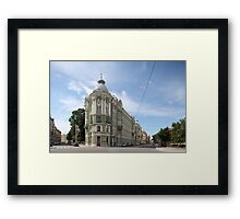 classical architecture of St. Petersburg   Framed Print
