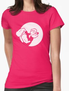 Popeye Womens Fitted T-Shirt