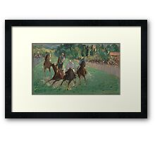 Edouard Manet - At the Races  1875  French Impressionism  , Landscape Framed Print