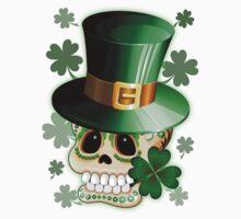 St Patrick Skull Cartoon  Kids Tee