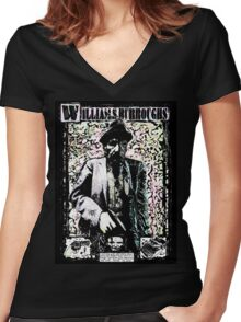 William Burroughs. Women's Fitted V-Neck T-Shirt
