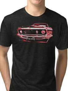 Red Ford Mustang illustration Tri-blend T-Shirt