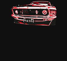 Red Ford Mustang illustration Womens Fitted T-Shirt