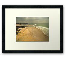 Booby's Bay Cornwall Sand Drawing Framed Print