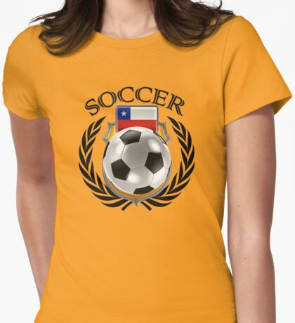 Chile Soccer 2016 Fan Gear Womens Fitted T-Shirt