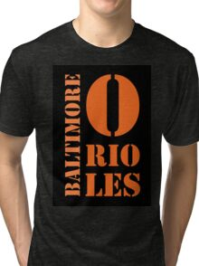 Baltimore Orioles Typography Tri-blend T-Shirt