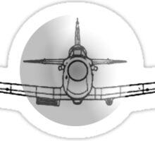 Supermarine, Spitfire, Supermarine, Spitfire, Head on, Fighter, WWII, 1942, Fighter, WWII, 1942, on BLACK Sticker