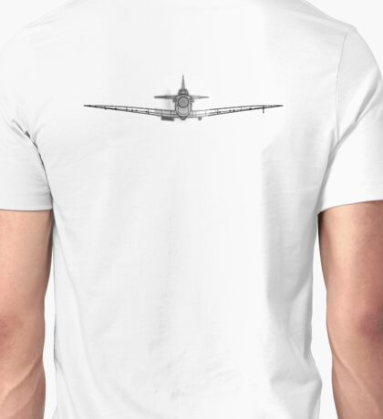 Supermarine, Spitfire, Supermarine, Spitfire, Head on, Fighter, WWII, 1942, Fighter, WWII, 1942, on WHITE Unisex T-Shirt