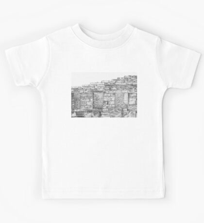 bricks of broken house Kids Tee
