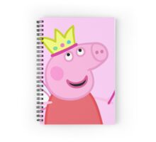 Peppa Fairy Queen Pig Spiral Notebook